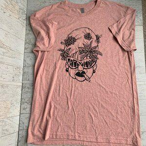 Weed Grandma Graphic T-Shirt Sz L